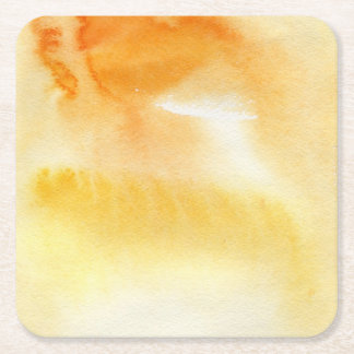 Abstract watercolor hand painted background 5 3 square paper coaster