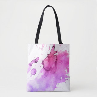 Abstract watercolor hand painted background 5 3 tote bag