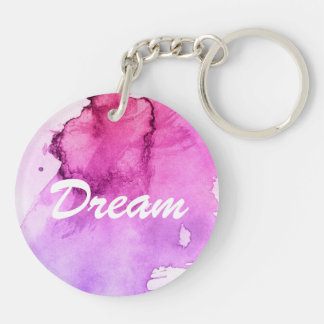 Abstract watercolor hand painted background 5 key ring