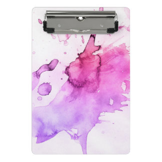 Abstract watercolor hand painted background 5 mini clipboard
