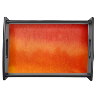 Abstract watercolor hand painted background 5 serving tray
