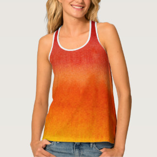Abstract watercolor hand painted background 5 tank top