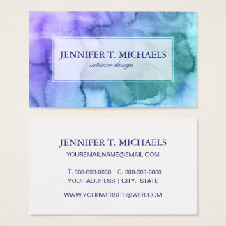 Abstract watercolor hand painted background 6 2 business card
