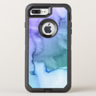 Abstract watercolor hand painted background 6 2 OtterBox defender iPhone 8 plus/7 plus case