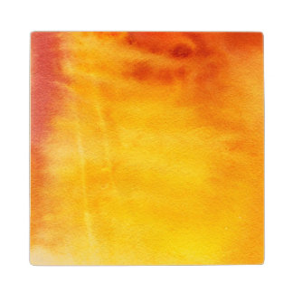 Abstract watercolor hand painted background 6 2 wood coaster