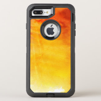 Abstract watercolor hand painted background 6 3 OtterBox defender iPhone 8 plus/7 plus case