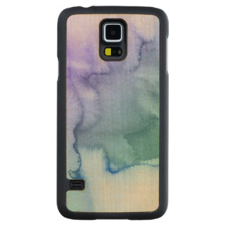 Abstract watercolor hand painted background 6 carved maple galaxy s5 case