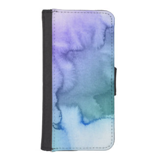 Abstract watercolor hand painted background 6 iPhone SE/5/5s wallet case