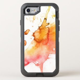 Abstract watercolor hand painted background 6 OtterBox defender iPhone 8/7 case