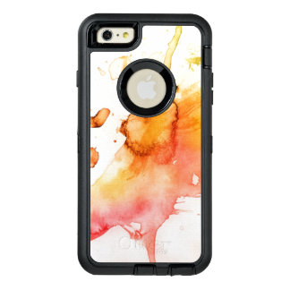 Abstract watercolor hand painted background 6 OtterBox defender iPhone case