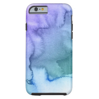 Abstract watercolor hand painted background 6 tough iPhone 6 case