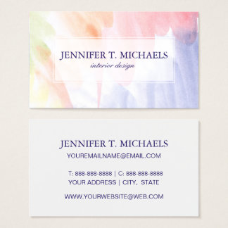 Abstract watercolor hand painted background 7 business card