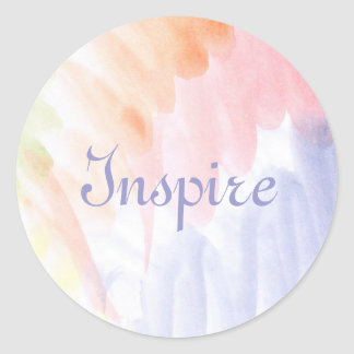 Abstract watercolor hand painted background 7 classic round sticker
