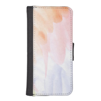 Abstract watercolor hand painted background 7 iPhone SE/5/5s wallet case