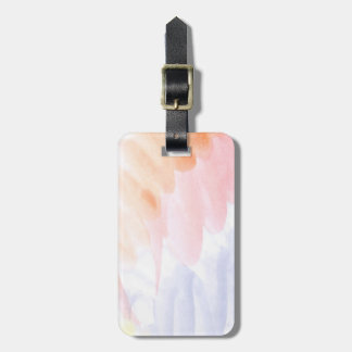 Abstract watercolor hand painted background 7 luggage tag