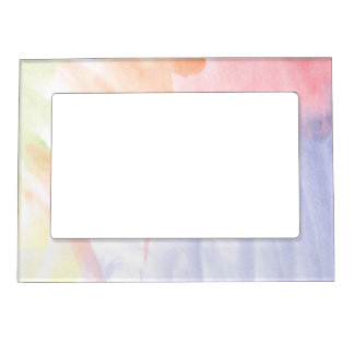 Abstract watercolor hand painted background 7 magnetic frame