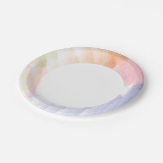 Abstract watercolor hand painted background 7 paper plate