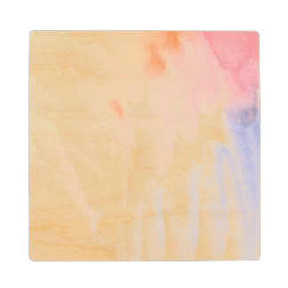 Abstract watercolor hand painted background 7 wood coaster