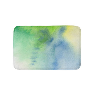 Abstract watercolor hand painted background 8 bath mat