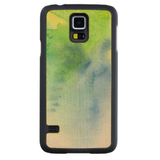 Abstract watercolor hand painted background 8 carved maple galaxy s5 case