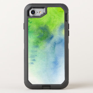 Abstract watercolor hand painted background 8 OtterBox defender iPhone 8/7 case