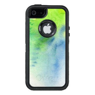 Abstract watercolor hand painted background 8 OtterBox defender iPhone case