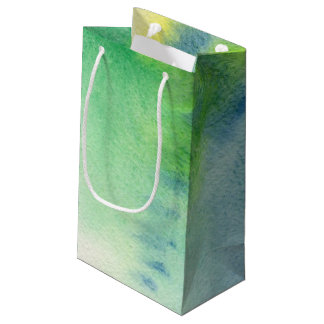 Abstract watercolor hand painted background 8 small gift bag