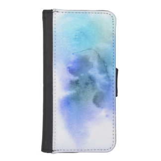 Abstract watercolor hand painted background 9 iPhone SE/5/5s wallet case
