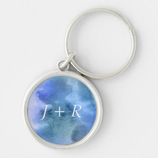 Abstract watercolor hand painted background 9 key ring