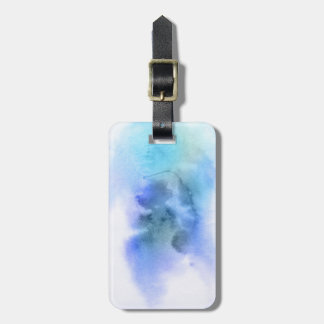Abstract watercolor hand painted background 9 luggage tag