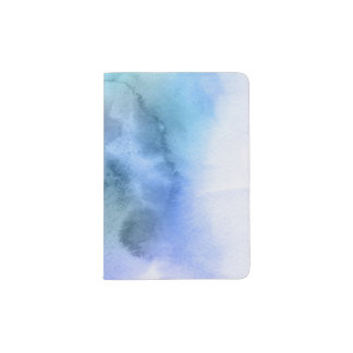 Abstract watercolor hand painted background 9 passport holder