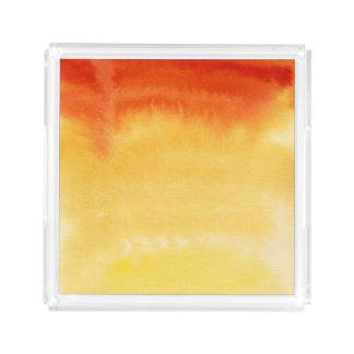 Abstract watercolor hand painted background. acrylic tray