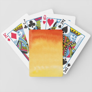 Abstract watercolor hand painted background. bicycle playing cards