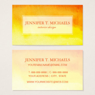 Abstract watercolor hand painted background business card