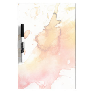 Abstract watercolor hand painted background dry erase board