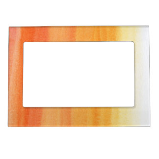 Abstract watercolor hand painted background frame magnets
