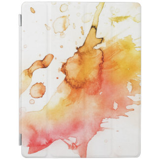 Abstract watercolor hand painted background iPad cover