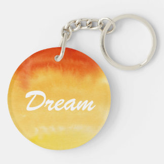 Abstract watercolor hand painted background. key ring