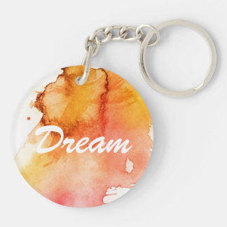 Abstract watercolor hand painted background key ring