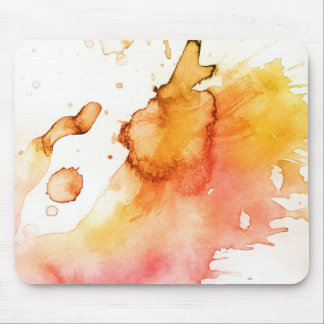 Abstract watercolor hand painted background mouse pad