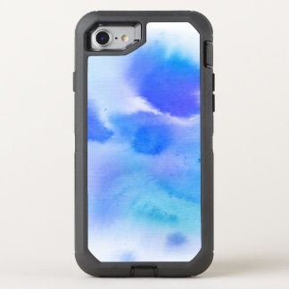 Abstract watercolor hand painted background. OtterBox defender iPhone 8/7 case