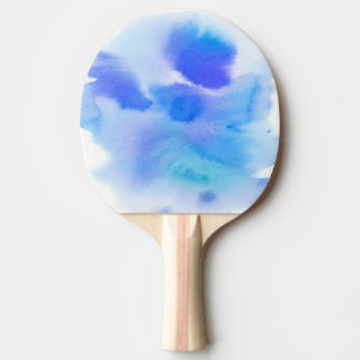 Abstract watercolor hand painted background. ping pong paddle