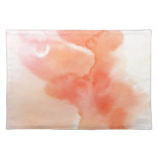 Abstract watercolor hand painted background placemat