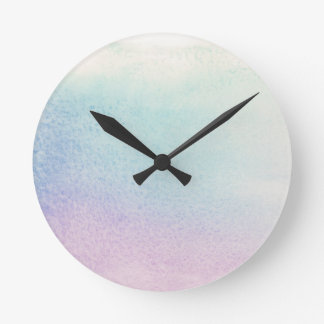 Abstract watercolor hand painted background round clock