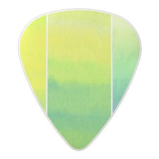 Abstract watercolor hand painted backgrounds set acetal guitar pick