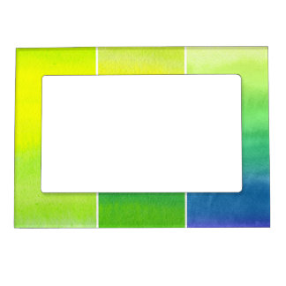 Abstract watercolor hand painted backgrounds set magnetic frames