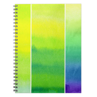 Abstract watercolor hand painted backgrounds set notebooks