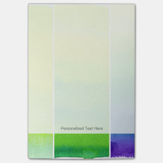Abstract watercolor hand painted backgrounds set post-it notes