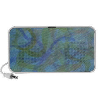 Abstract watercolor in cool colors notebook speakers