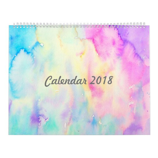 Abstract Watercolor Landscape Calendar, Large Wall Calendars